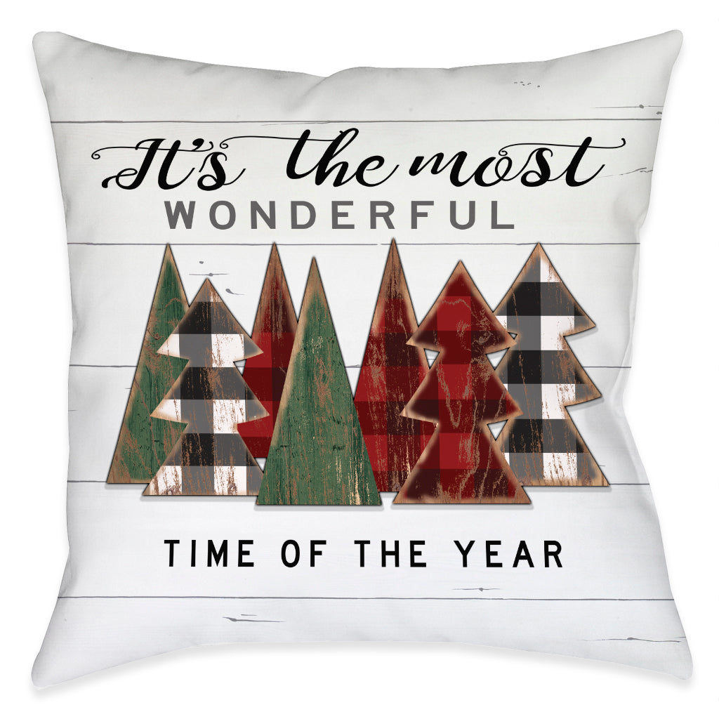 Rustic Christmas Indoor Decorative Pillow