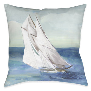 Sail the Ocean Blue Outdoor Decorative Pillow