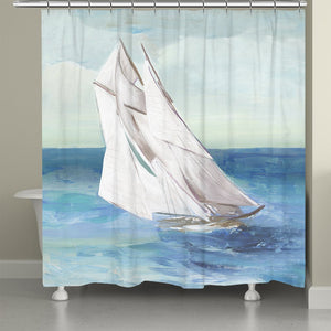 Sail The Ocean Blue Shower Curtain