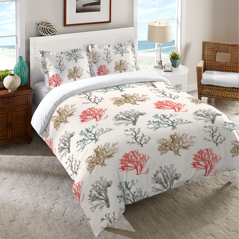 Sandy Coral Duvet Cover