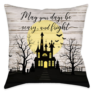 Scary and Bright Outdoor Decorative Pillow