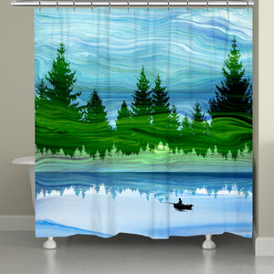 Scenic Forest Shower Curtain