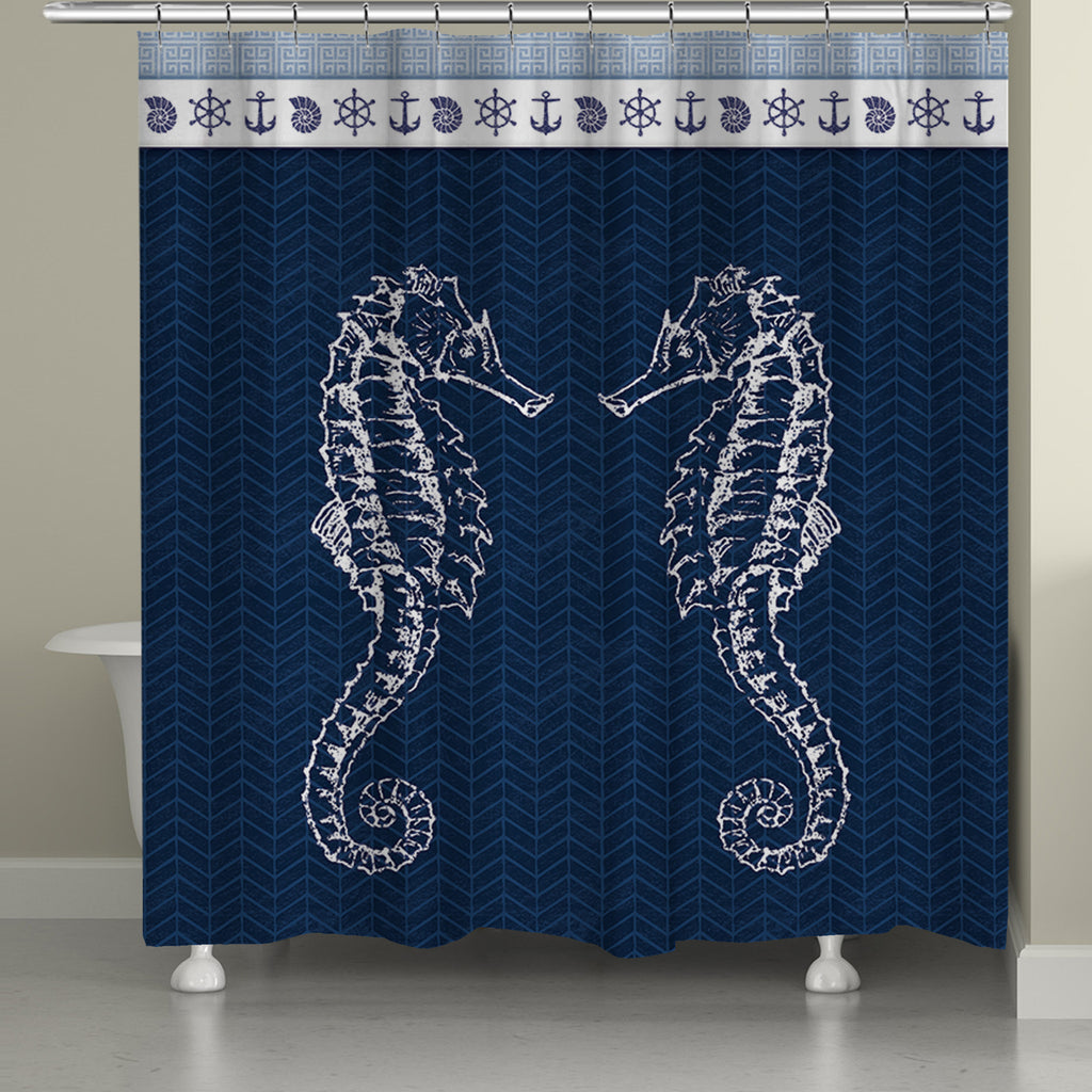 Seahorses Shower Curtain Laural Home