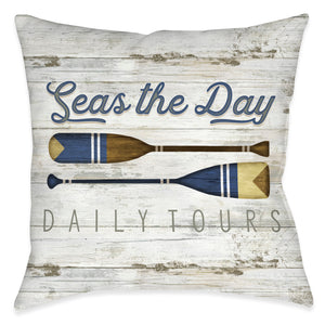 Seas The Day Outdoor Decorative Pillow