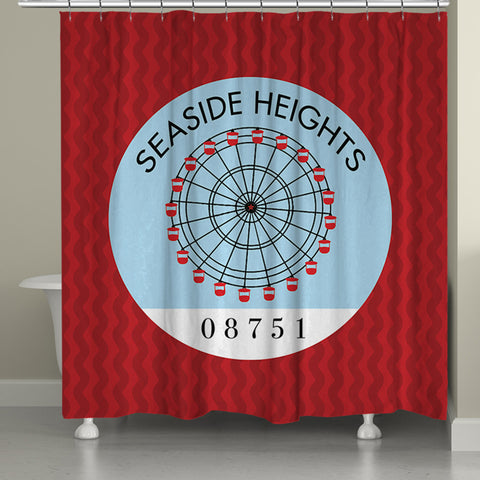 Seaside Heights I Shower Curtain