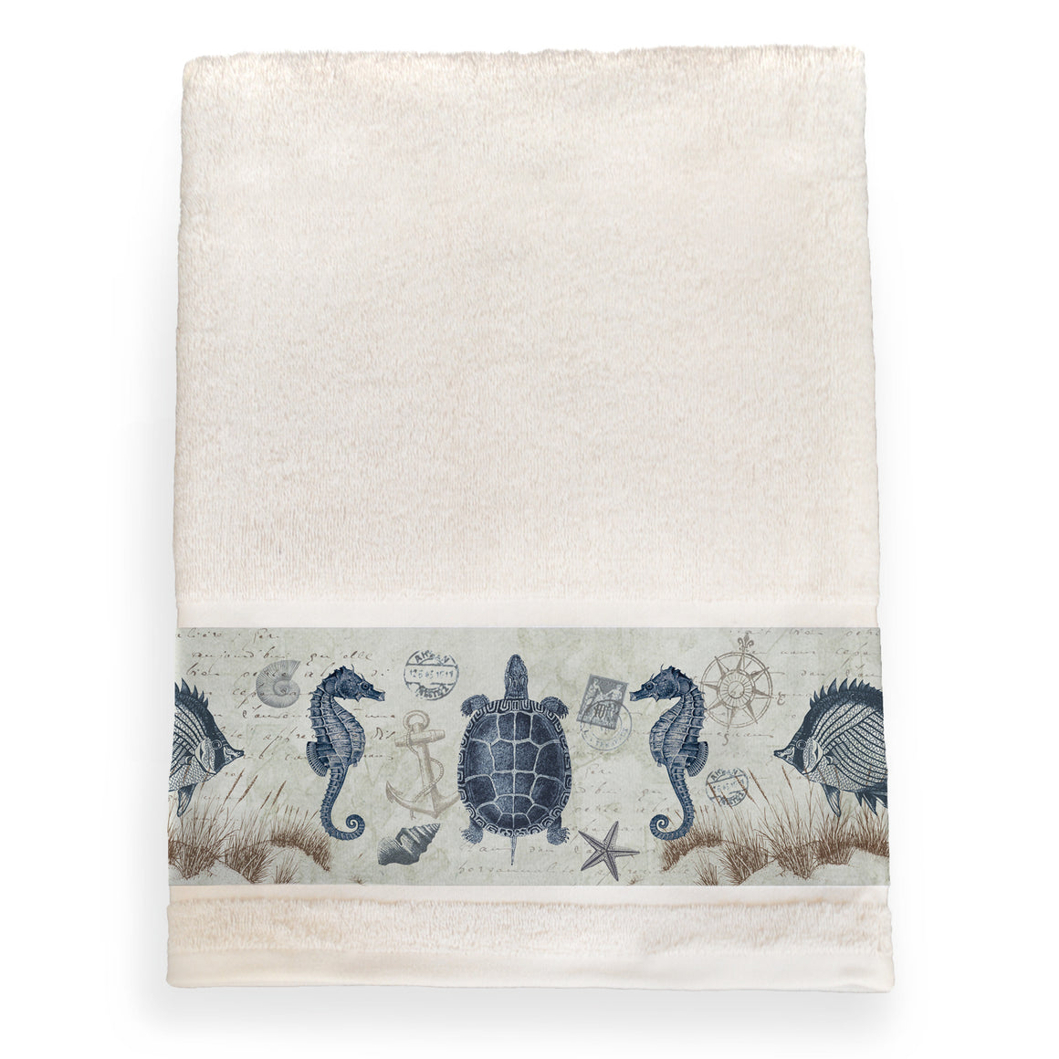 Seaside Postcard Bath Towel