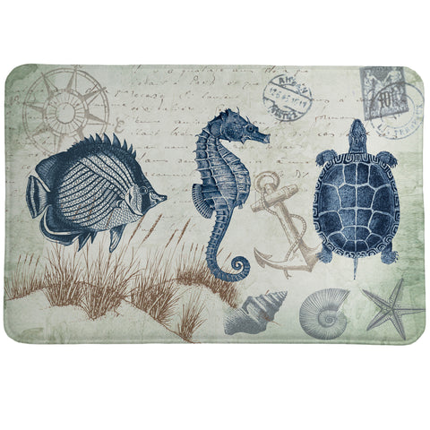 Seaside Postcard Memory Foam Rug