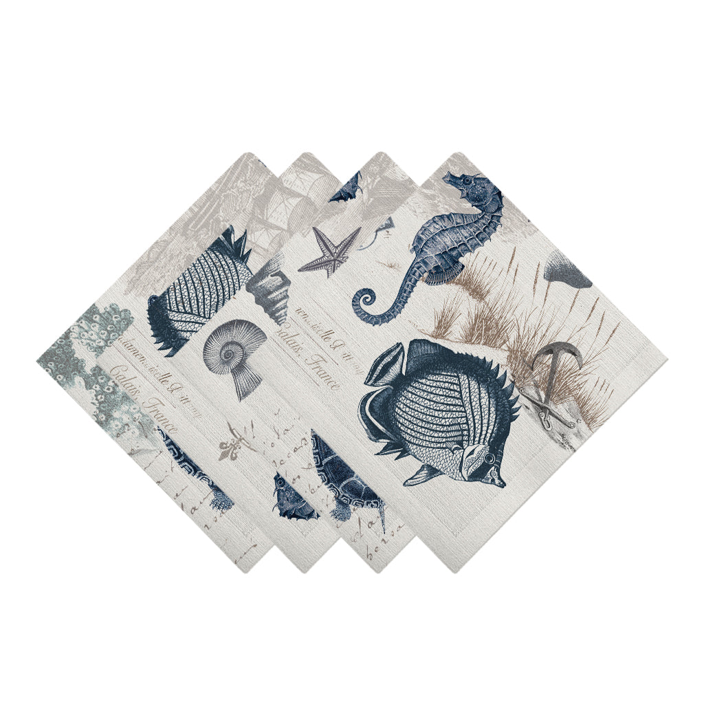 Seaside Postcard Napkins
