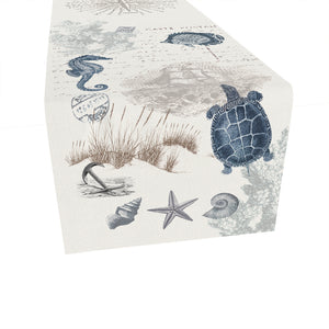 Seaside Postcard Table Runner