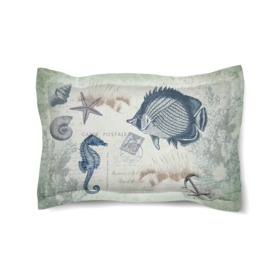 Seaside Postcard Duvet Sham