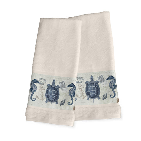 Seaside Postcard Hand Towels