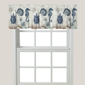 Seaside Postcard Window Valance