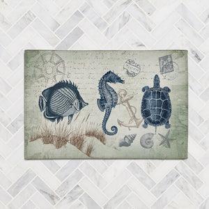 Seaside Postcard Accent Rug