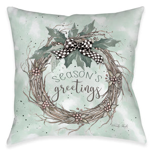 Season's Greetings Indoor Decorative Pillow