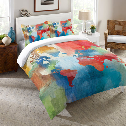 Seasons Change Abstract Comforter