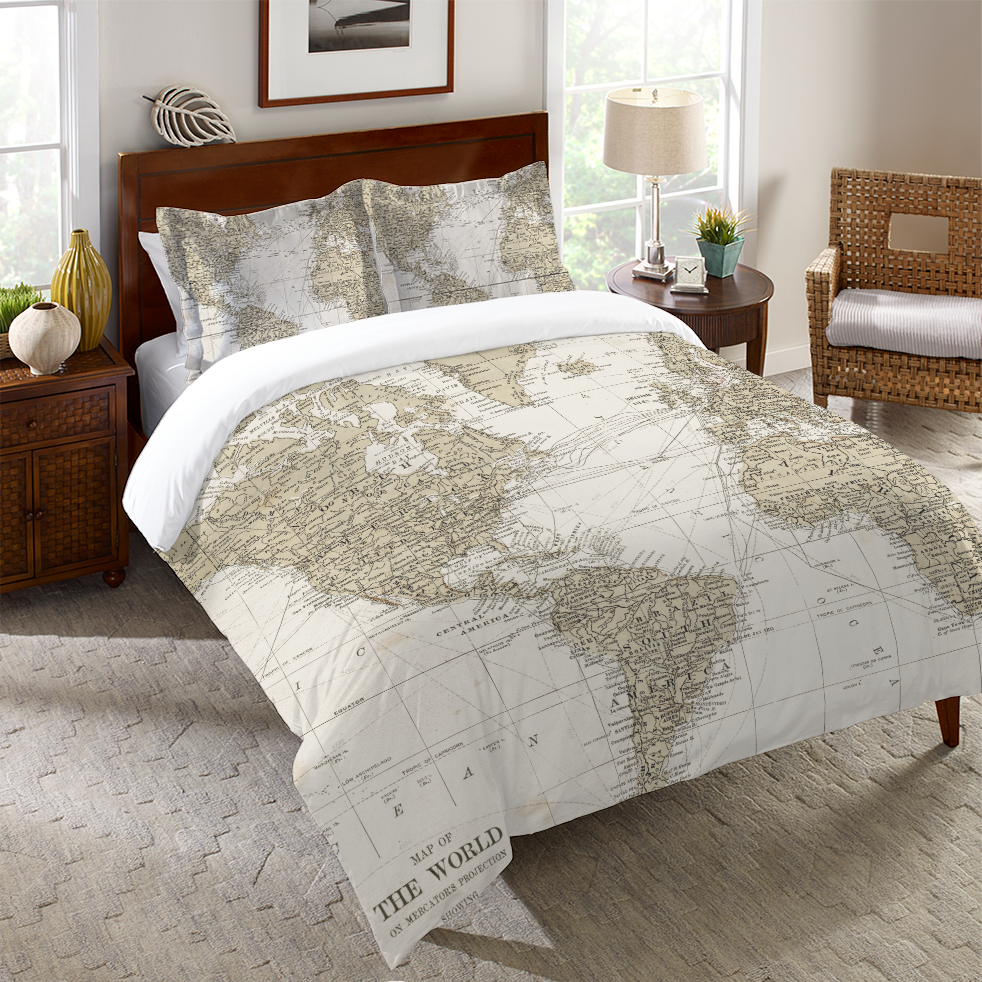 Get Out and See the World Duvet Cover – Laural Home