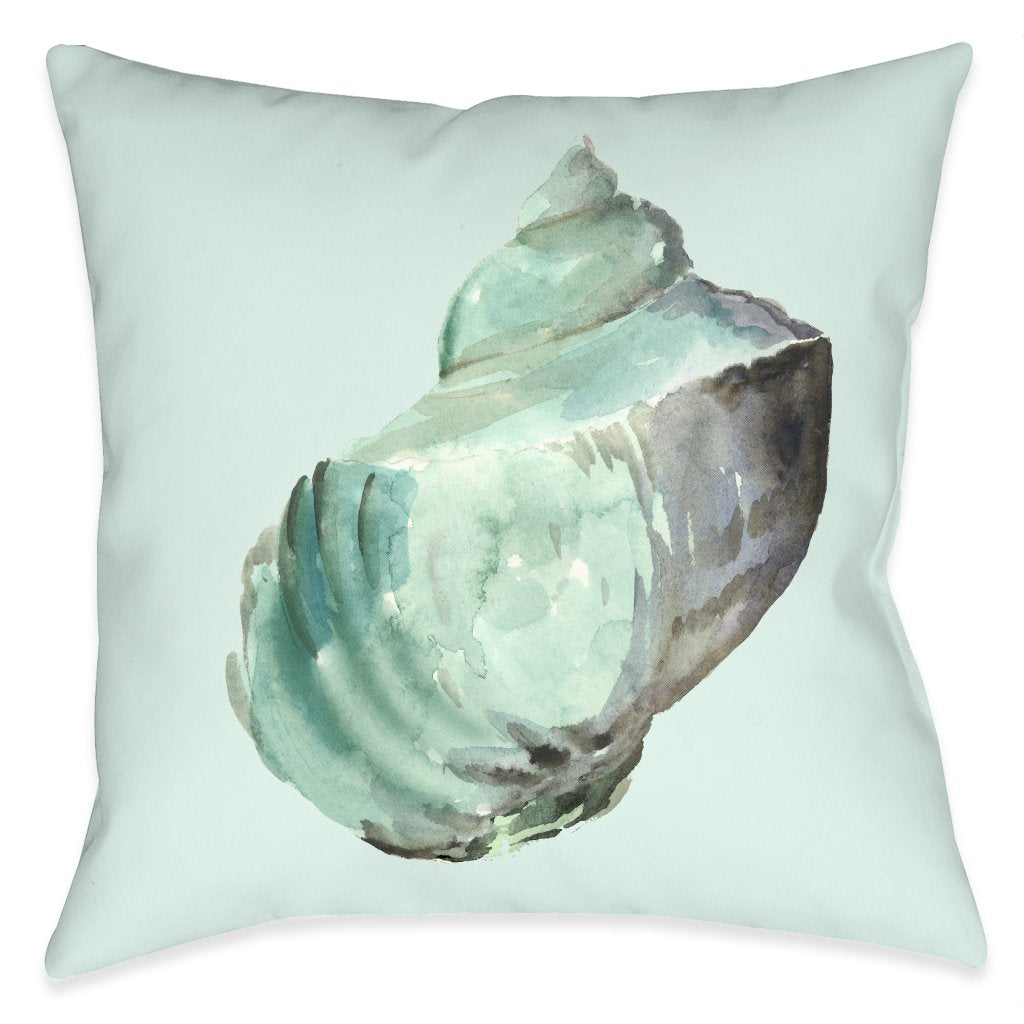 Shell In Mint Indoor Decorative Pillow