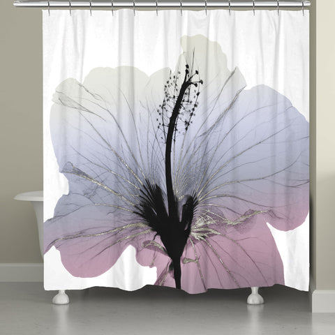 Wild Grape Hibiscus X-Ray Flower Shower Curtain