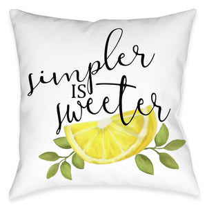 Simpler Is Sweeter Outdoor Decorative Pillow