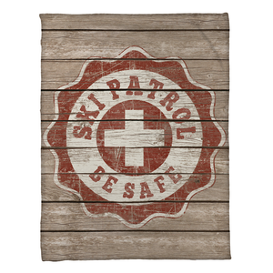 Ski Patrol Fleece Throw