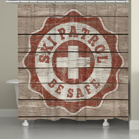 Ski Patrol Shower Curtain