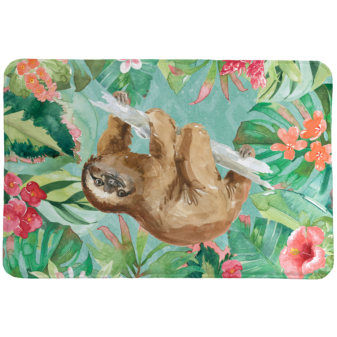Sloth in the Jungle Memory Foam Rug
