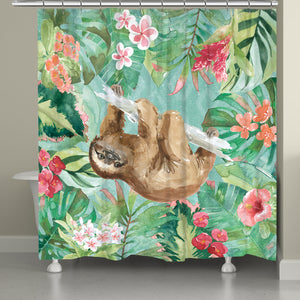 Sloth in the Jungle Shower Curtain