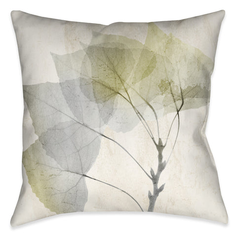 Smoky X-Ray Leaves Indoor Decorative Pillow
