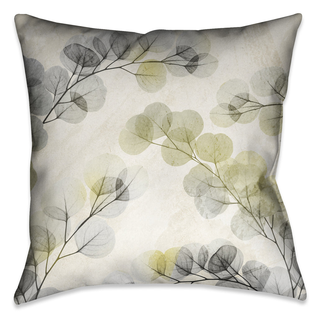 Smoky X-Ray of Eucalyptus Leaves Pillow