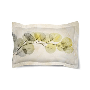 Smoky X-Ray of Eucalyptus Leaves Duvet Sham