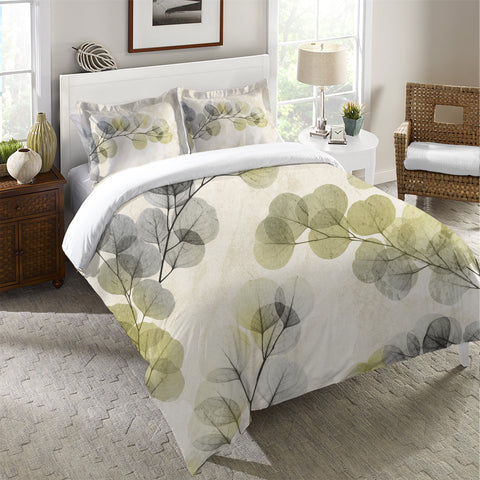 Smoky X-Ray of Eucalyptus Leaves Duvet Cover