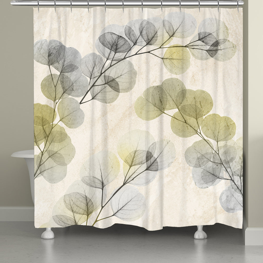 Smoky X-Ray of Eucalyptus Leaves Shower Curtain