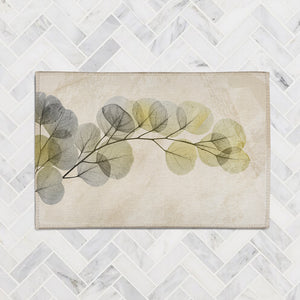 Smoky X-Ray of Eucalyptus Leaves Accent Rug