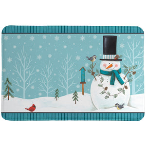 Friendly Snowmen Memory Foam Rug