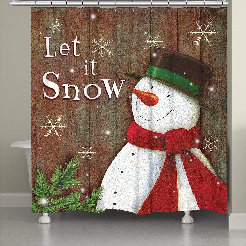 Snowy Season Shower Curtain