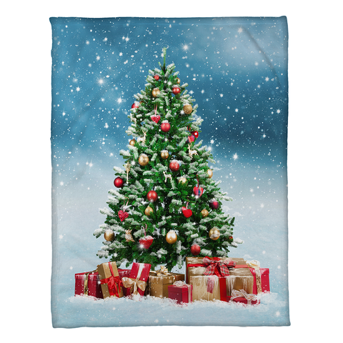 Snowy Tree Fleece Throw