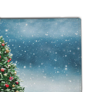Snowy Tree Accent Rug