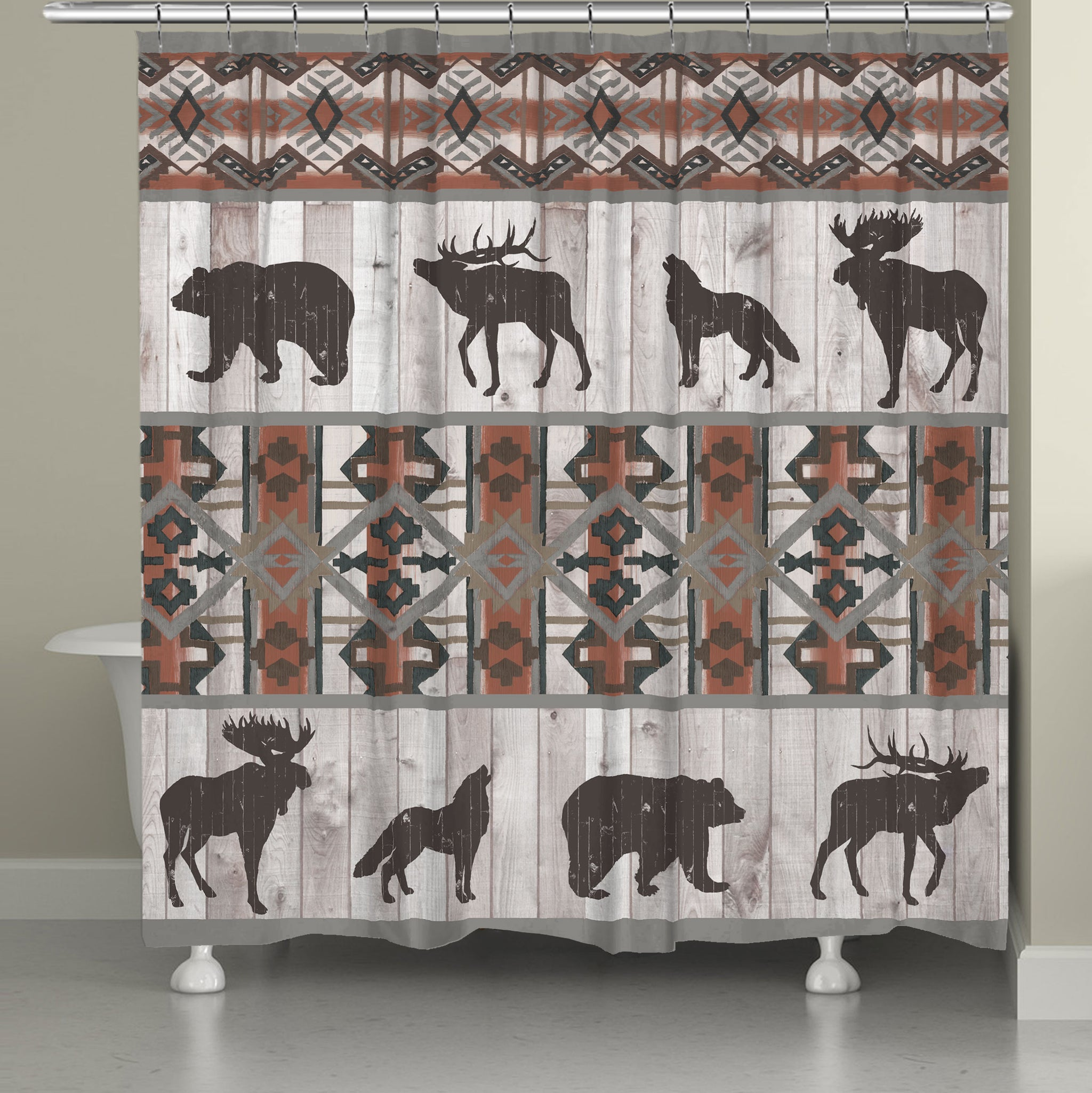 Southwest Lodge Shower Curtain Laural Home