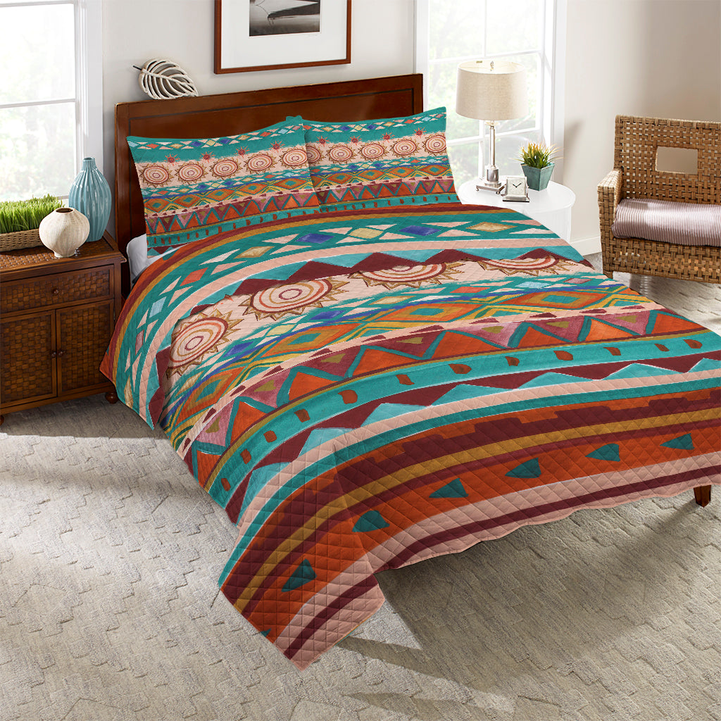 Southwest Mood Reversible Quilt Set
