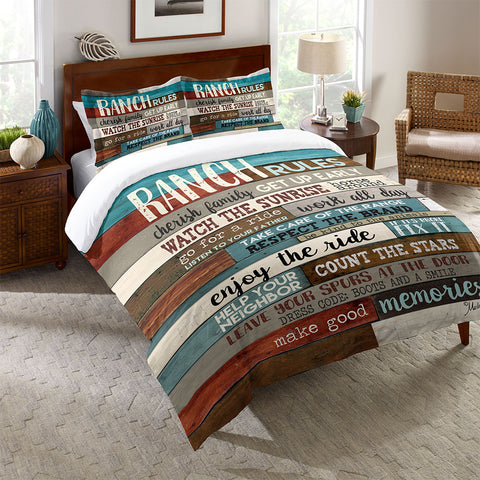 Southwest Ranch Rules Comforter