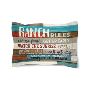 Southwest Ranch Rules Comforter Sham
