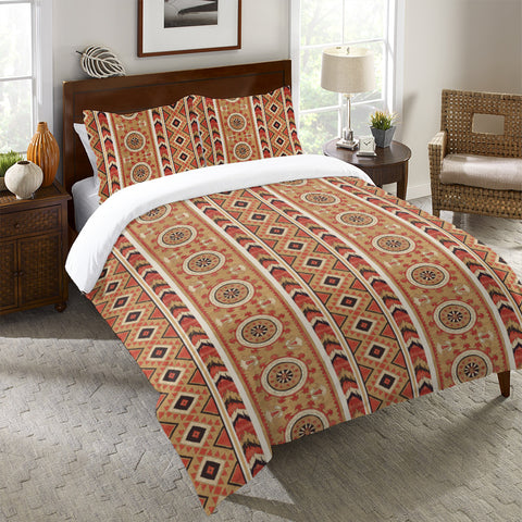 Southwest Story Gold Duvet Cover