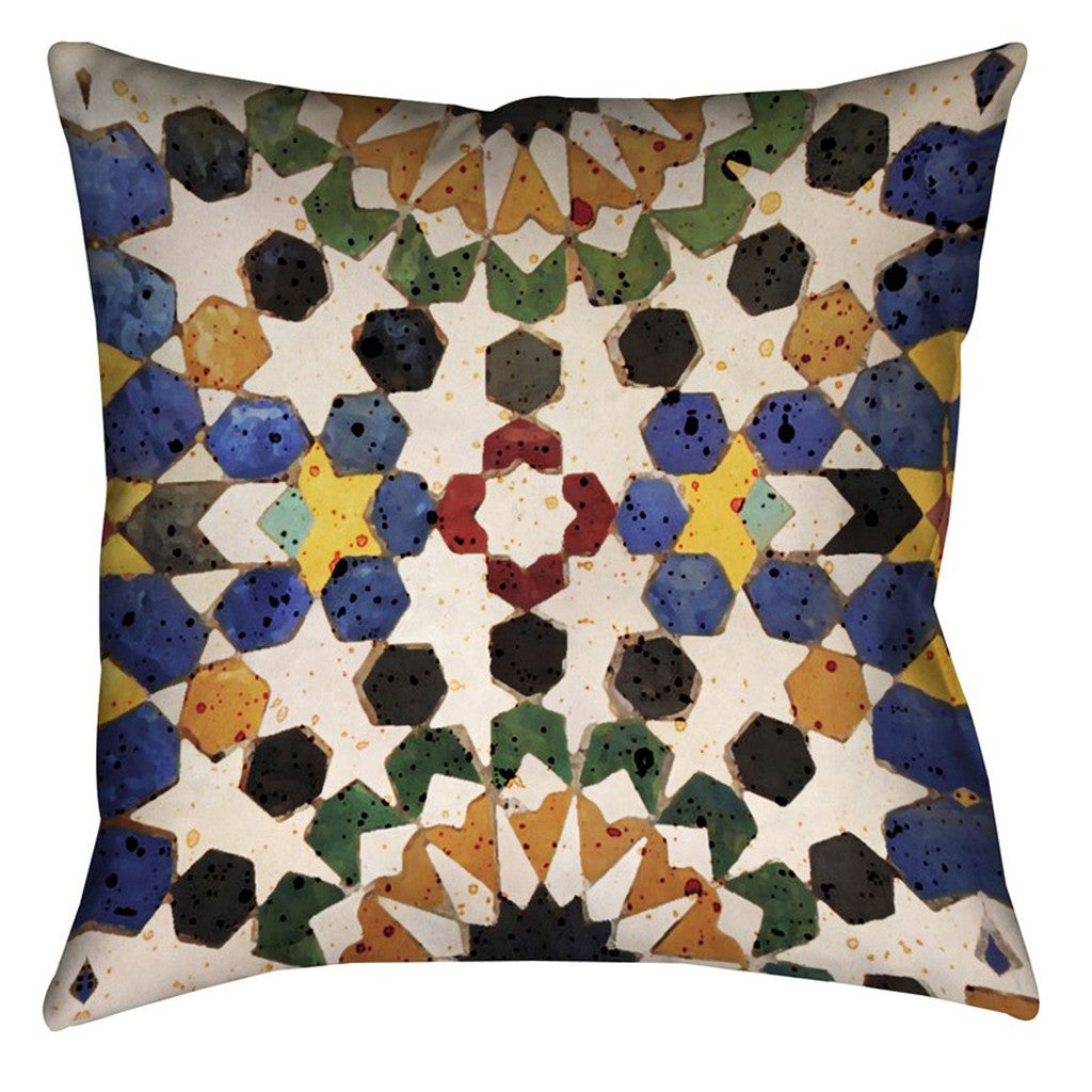 Spanish Tile Outdoor Decorative Pillow