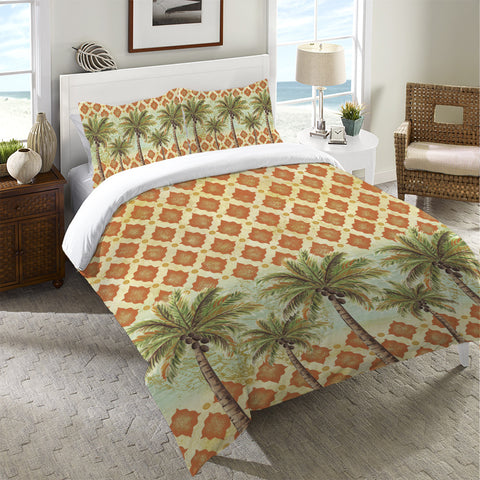 Spice Palm II Duvet Cover