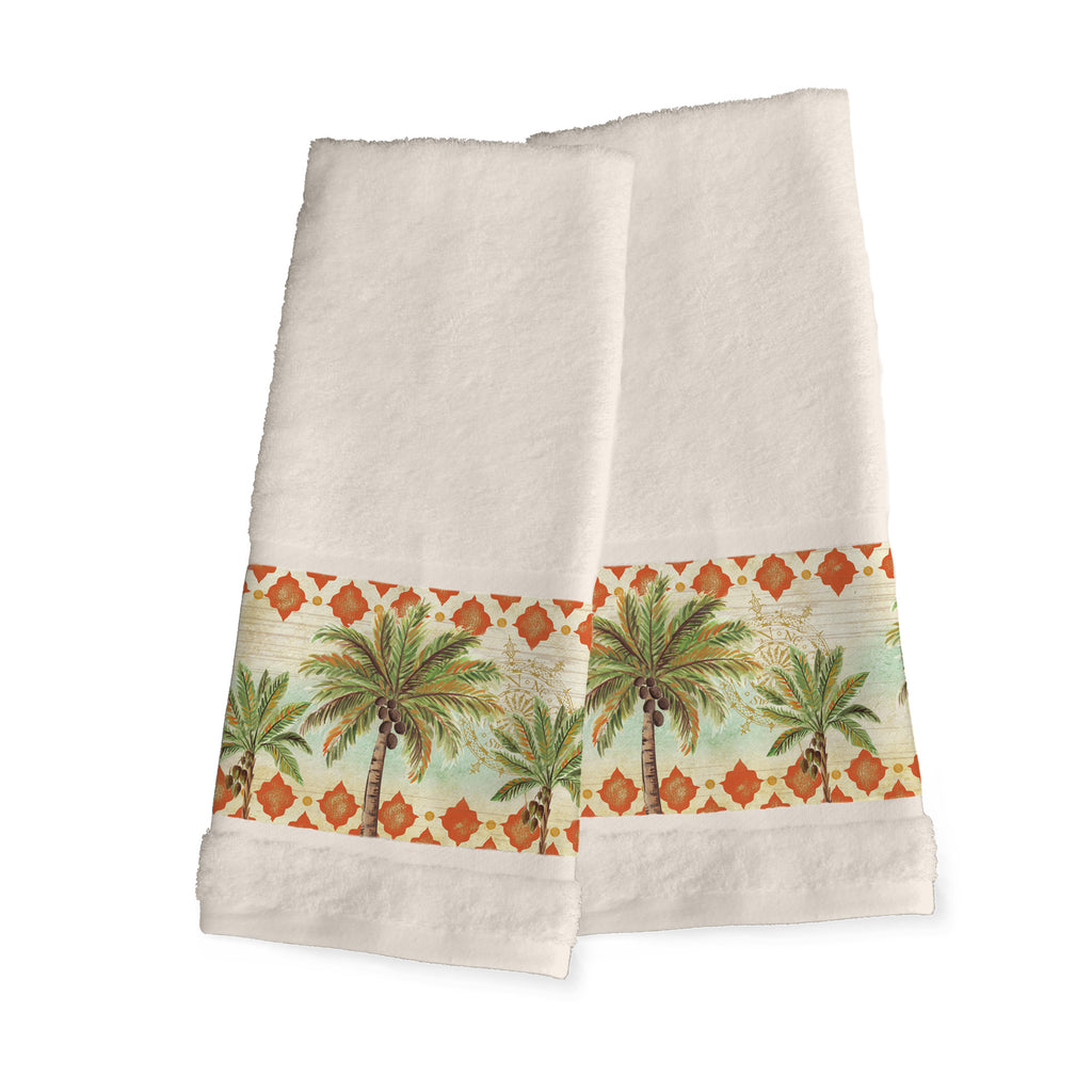 Spice Palm Hand Towels