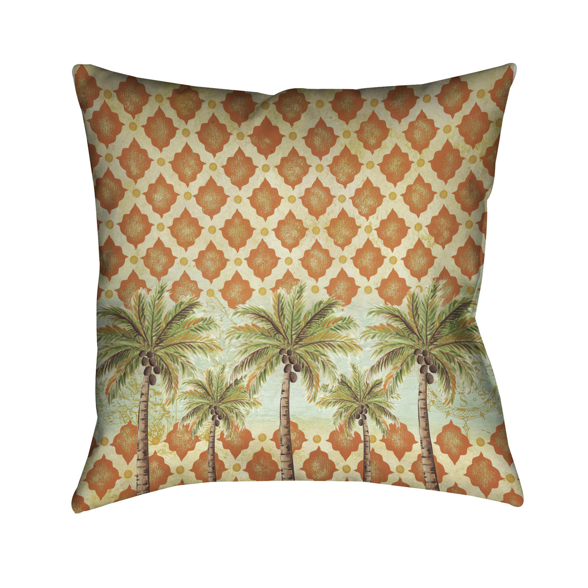 Spice Palm Outdoor Decorative Pillow