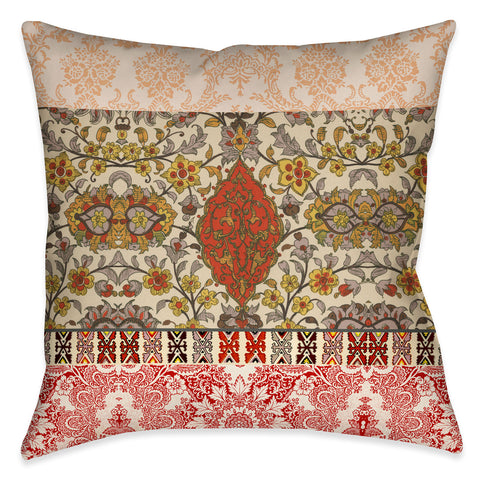 Red Spice Bohemian Tapestry Outdoor Decorative Pillow