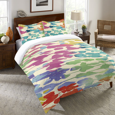 Splashes of Color Duvet Cover