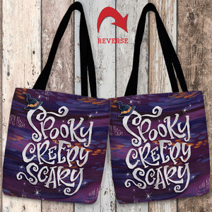 Spooky Creepy Scary Tote Bag