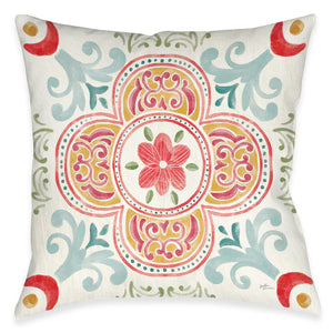 Spring Medallion Outdoor Decorative Pillow